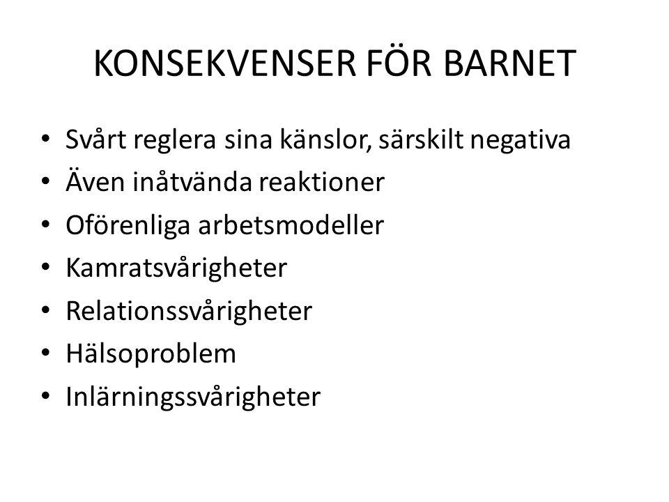 KONSEKVENSER FÖR BARNET