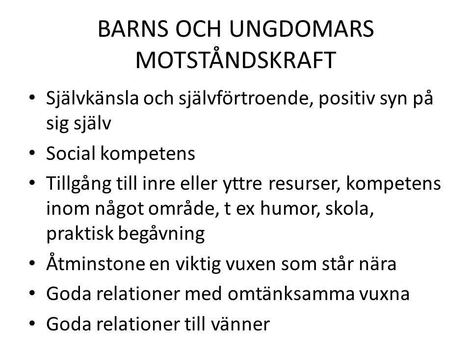 BARNS OCH UNGDOMARS MOTSTÅNDSKRAFT