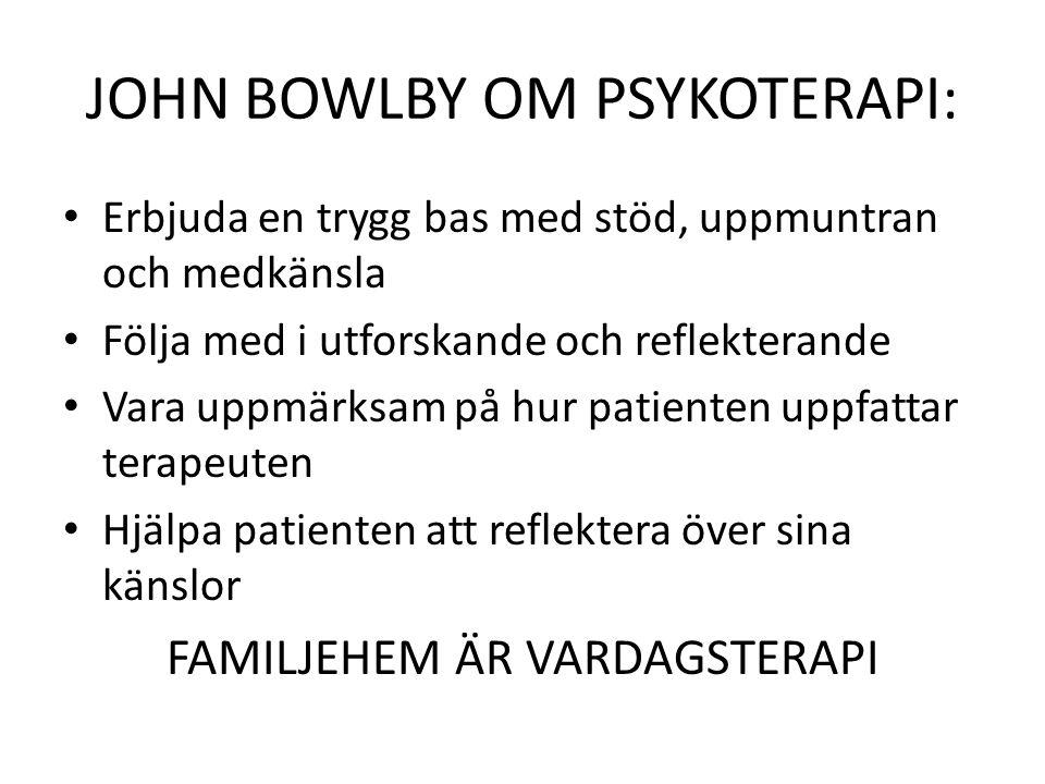 JOHN BOWLBY OM PSYKOTERAPI: