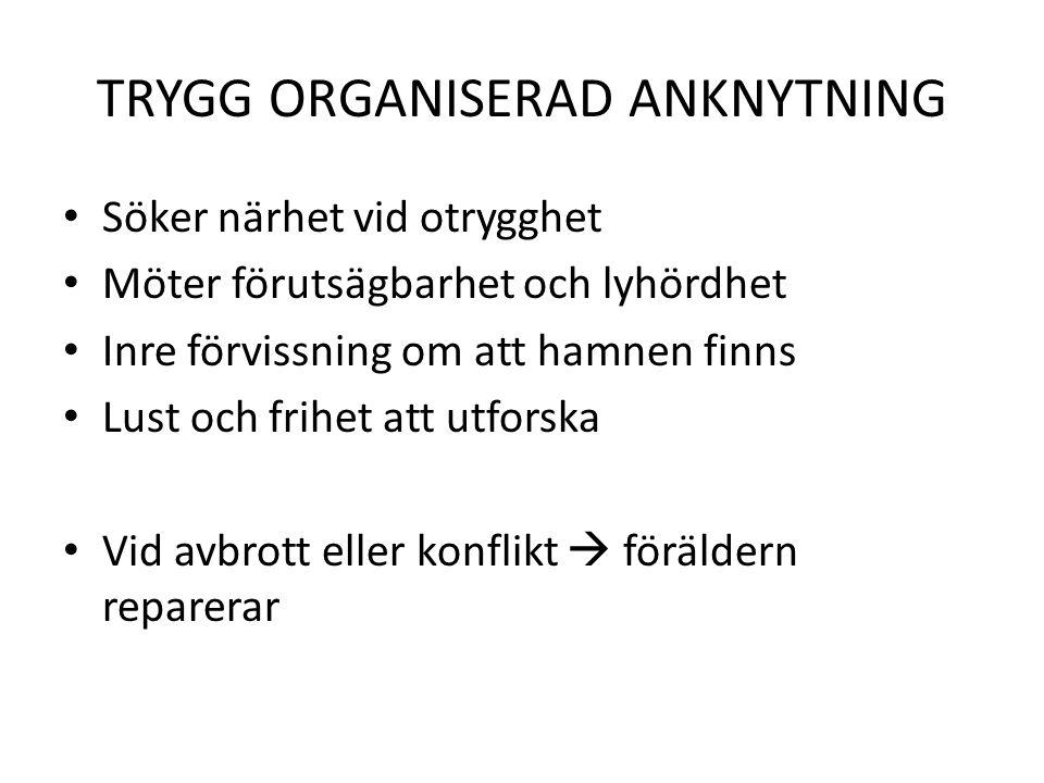 TRYGG ORGANISERAD ANKNYTNING