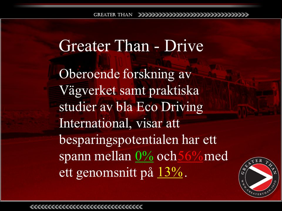 Greater Than - Drive