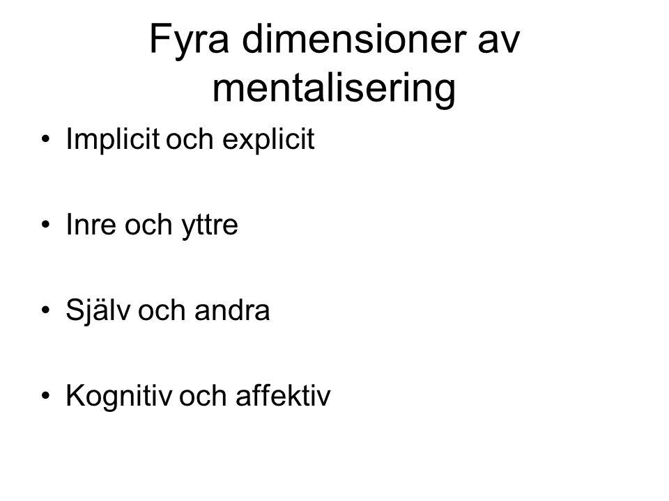 Fyra dimensioner av mentalisering