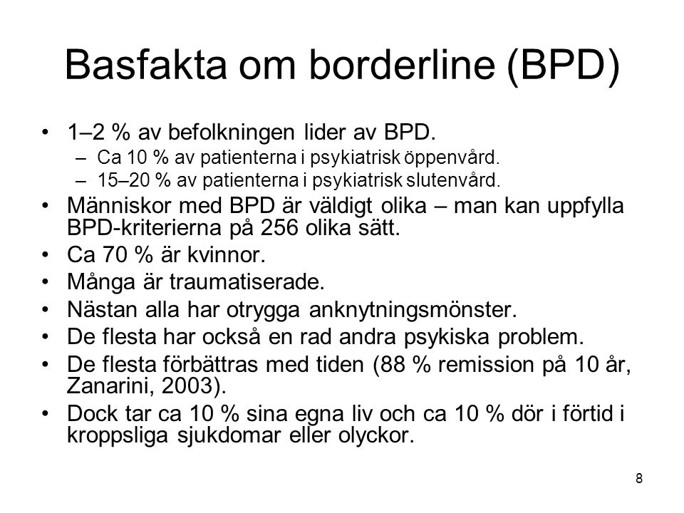 Basfakta om borderline (BPD)