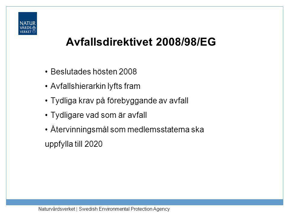 Avfallsdirektivet 2008/98/EG