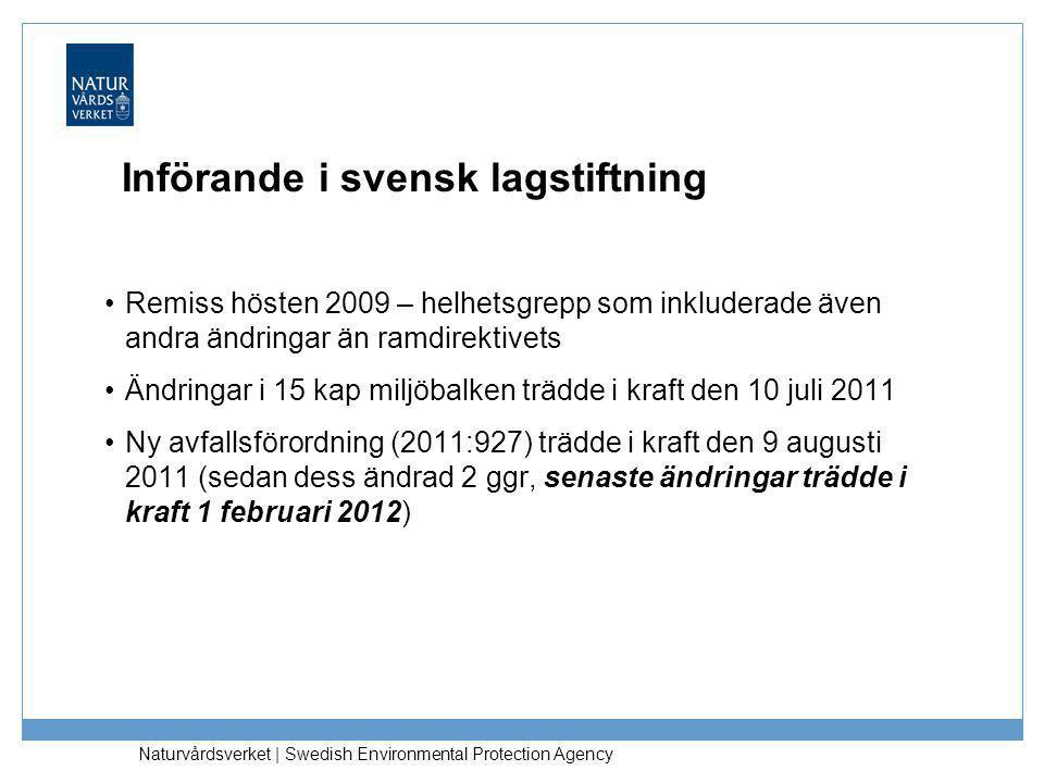 Införande i svensk lagstiftning