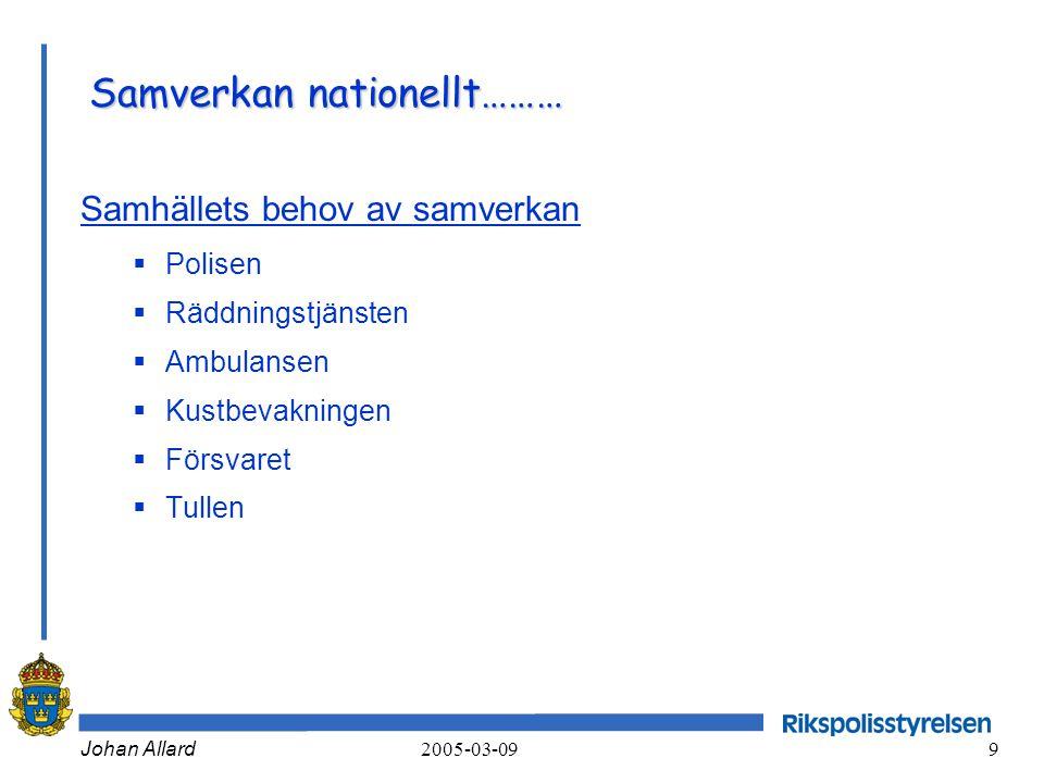 Samverkan nationellt………
