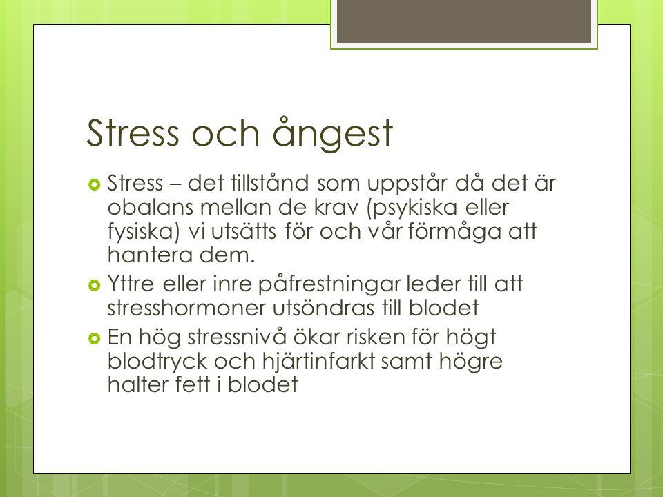 Stress och ångest