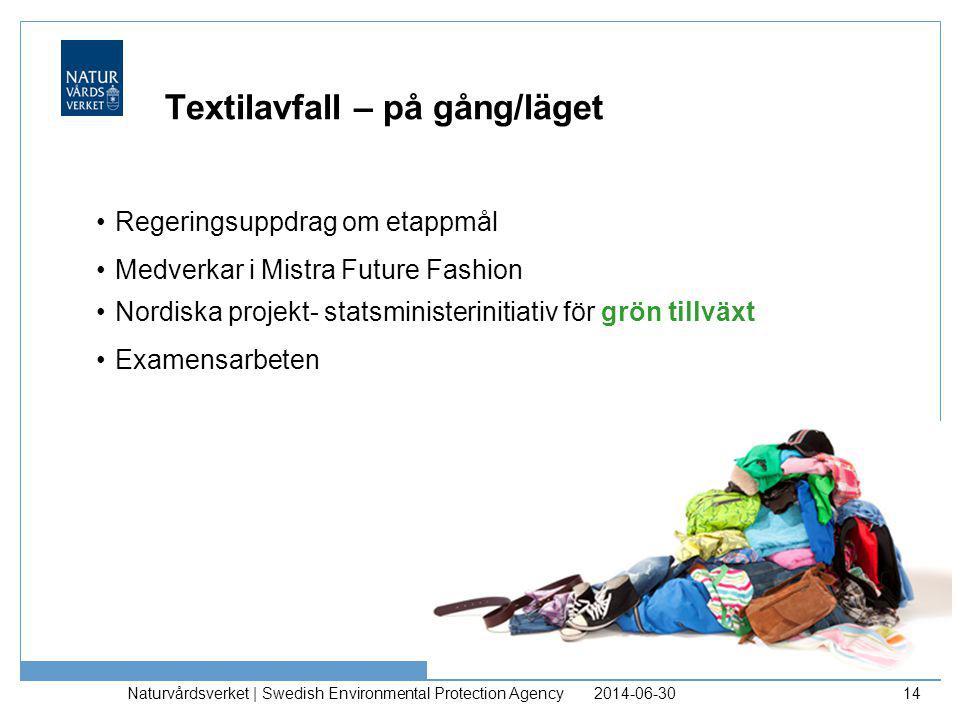 Textilavfall – på gång/läget