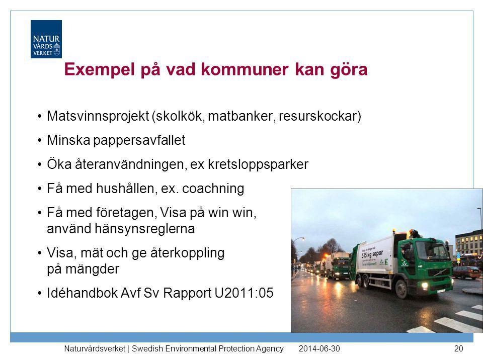 Exempel på vad kommuner kan göra