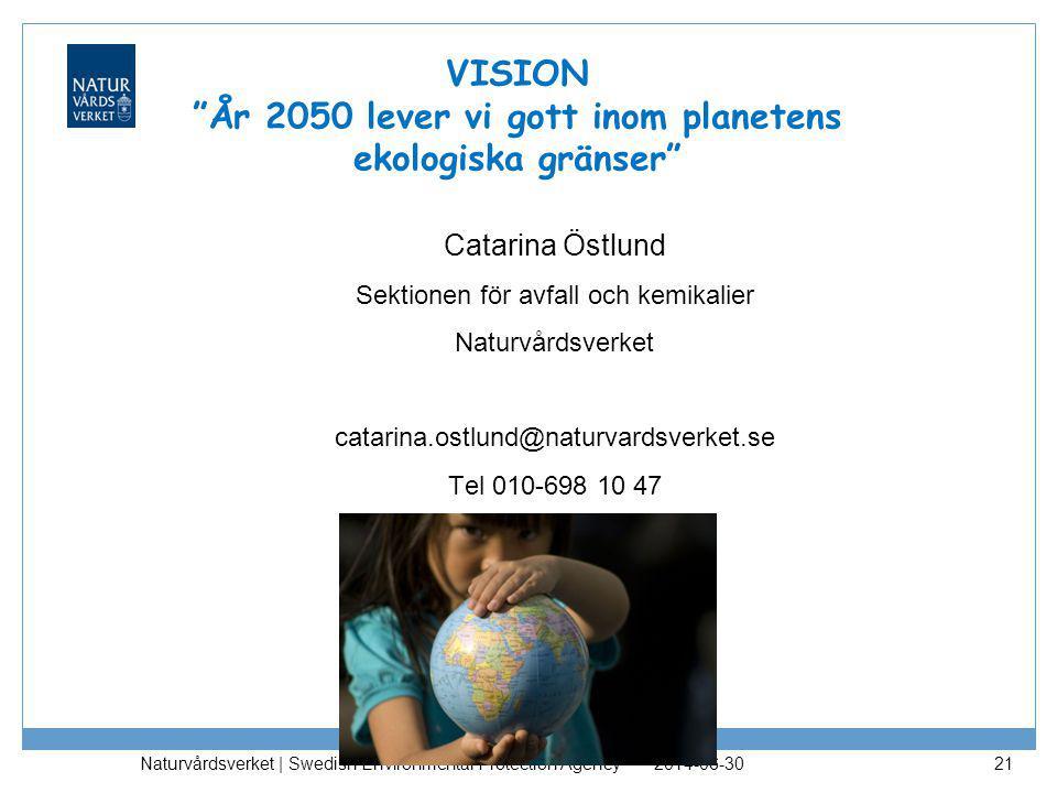 VISION År 2050 lever vi gott inom planetens ekologiska gränser