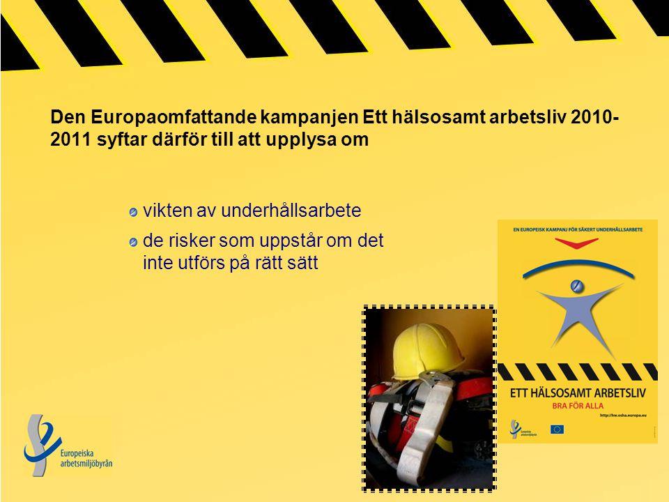 Den Europaomfattande kampanjen Ett hälsosamt arbetsliv 2010-2011 syftar därför till att upplysa om