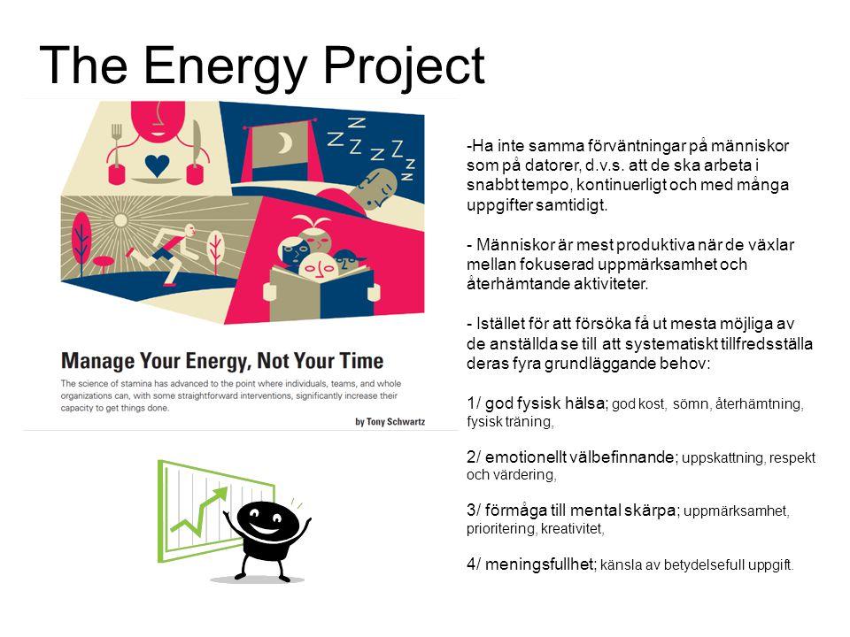 The Energy Project Ha inte samma förväntningar på människor