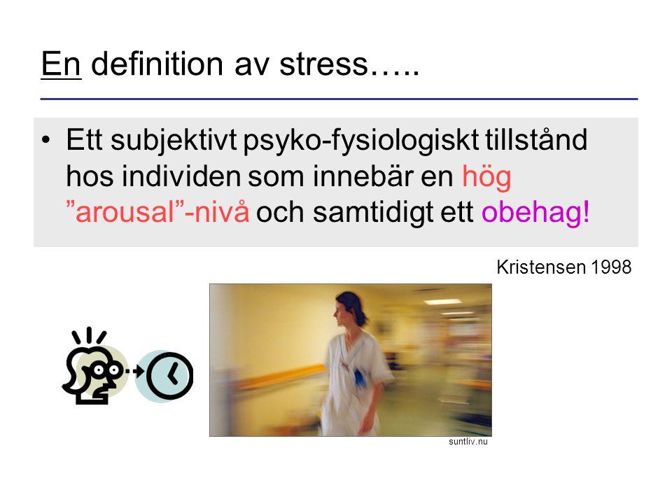 En definition av stress…..