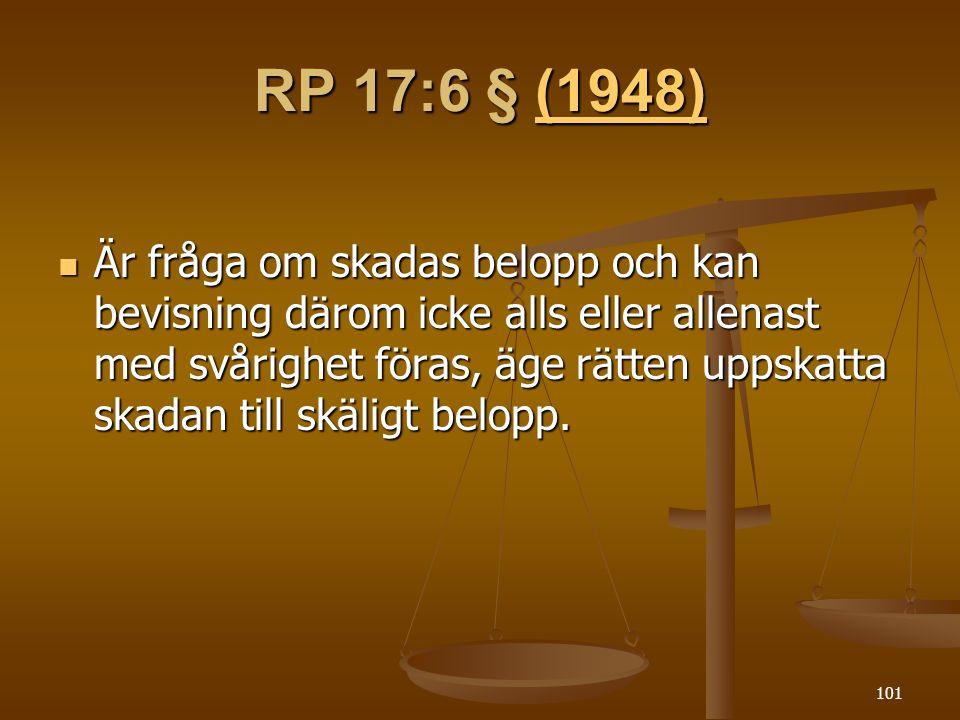RP 17:6 § (1948)
