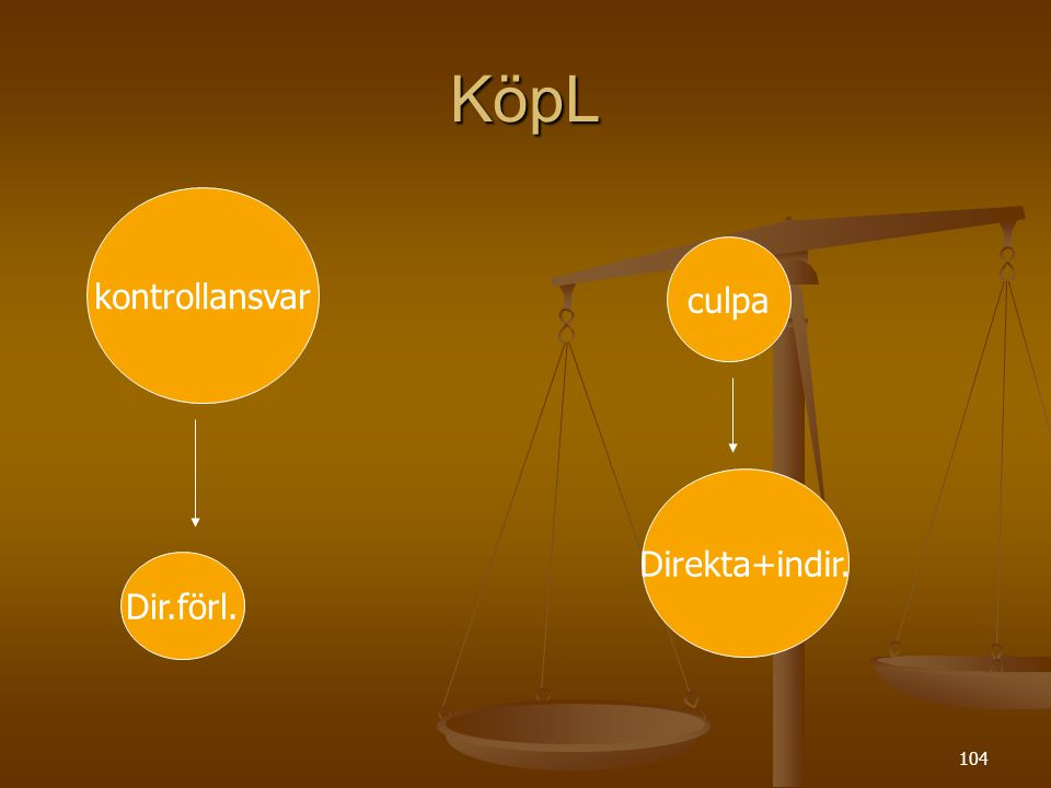 KöpL kontrollansvar culpa Direkta+indir. Dir.förl.