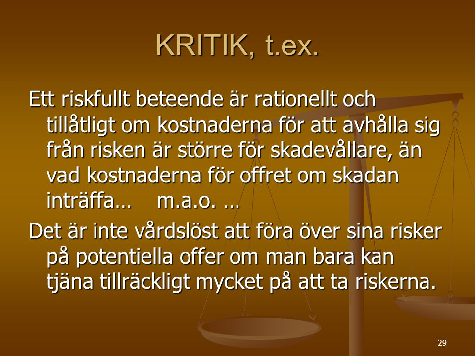 KRITIK, t.ex.