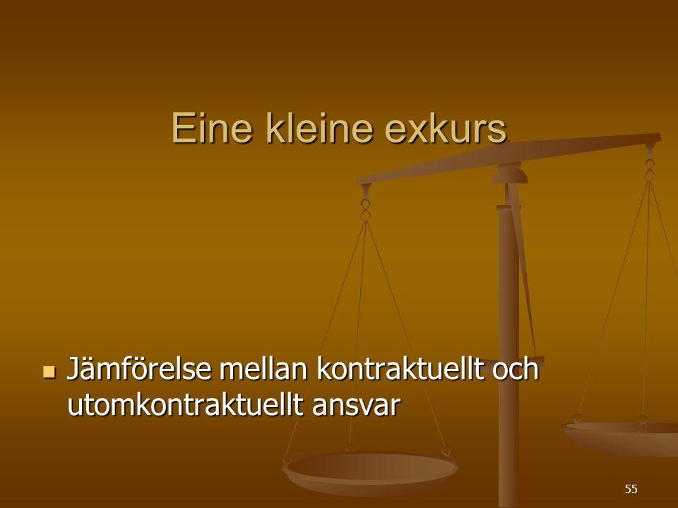 Eine kleine exkurs Jämförelse mellan kontraktuellt och utomkontraktuellt ansvar