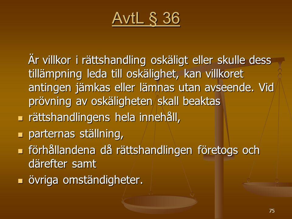 AvtL § 36