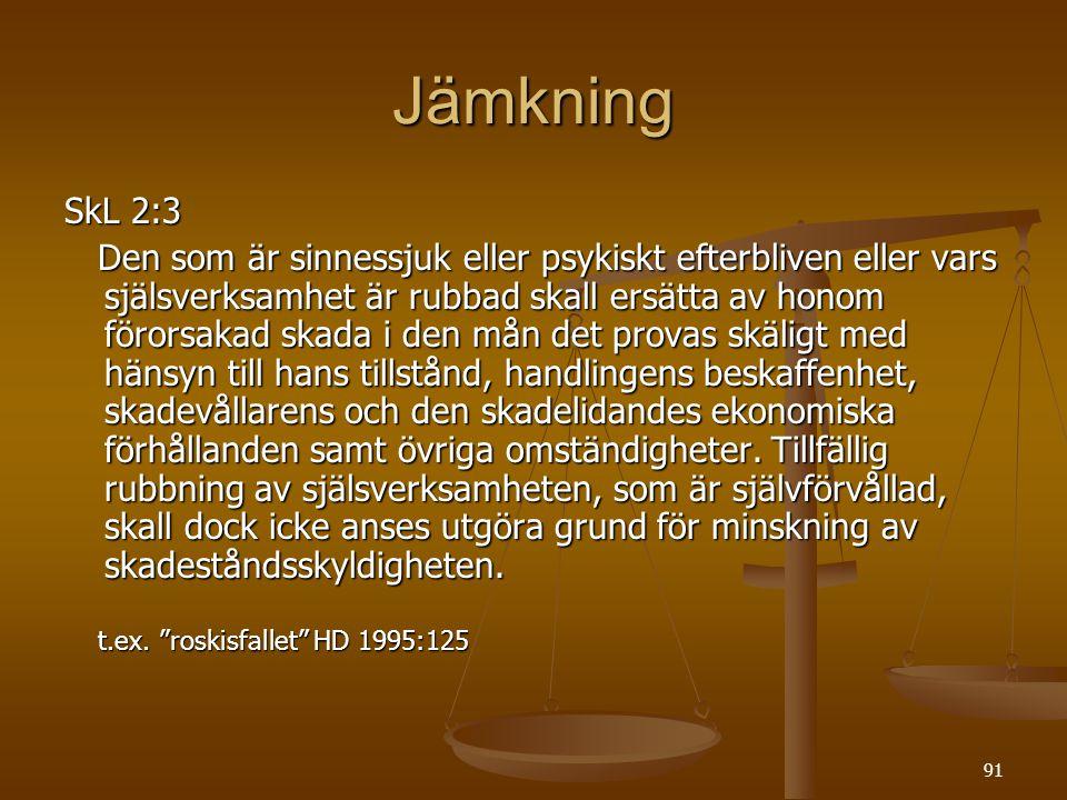 Jämkning SkL 2:3.