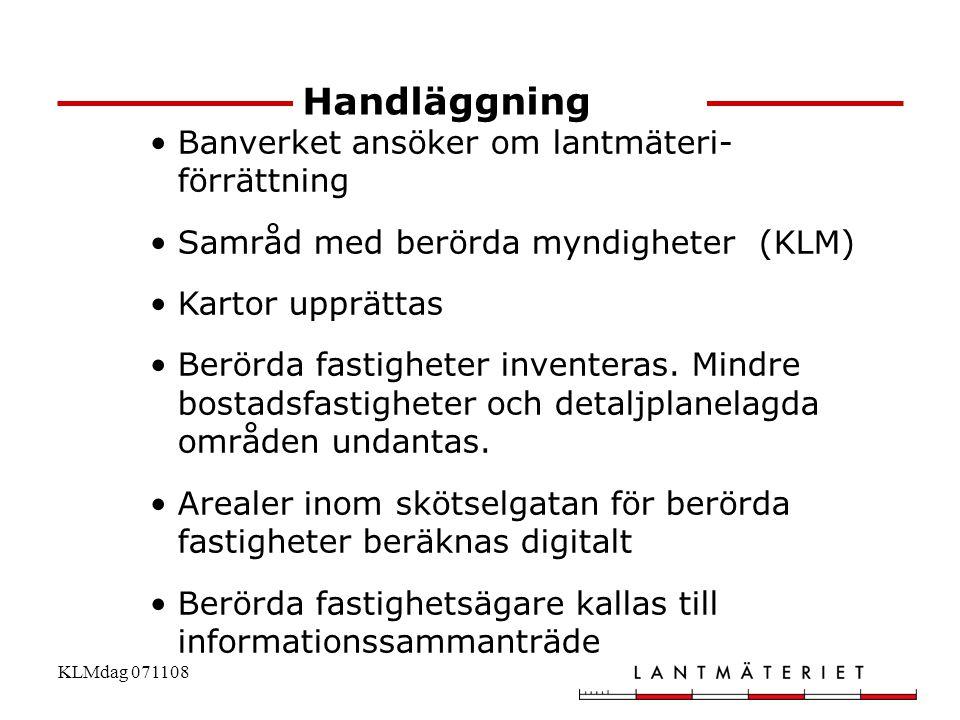 Handläggning Banverket ansöker om lantmäteri- förrättning