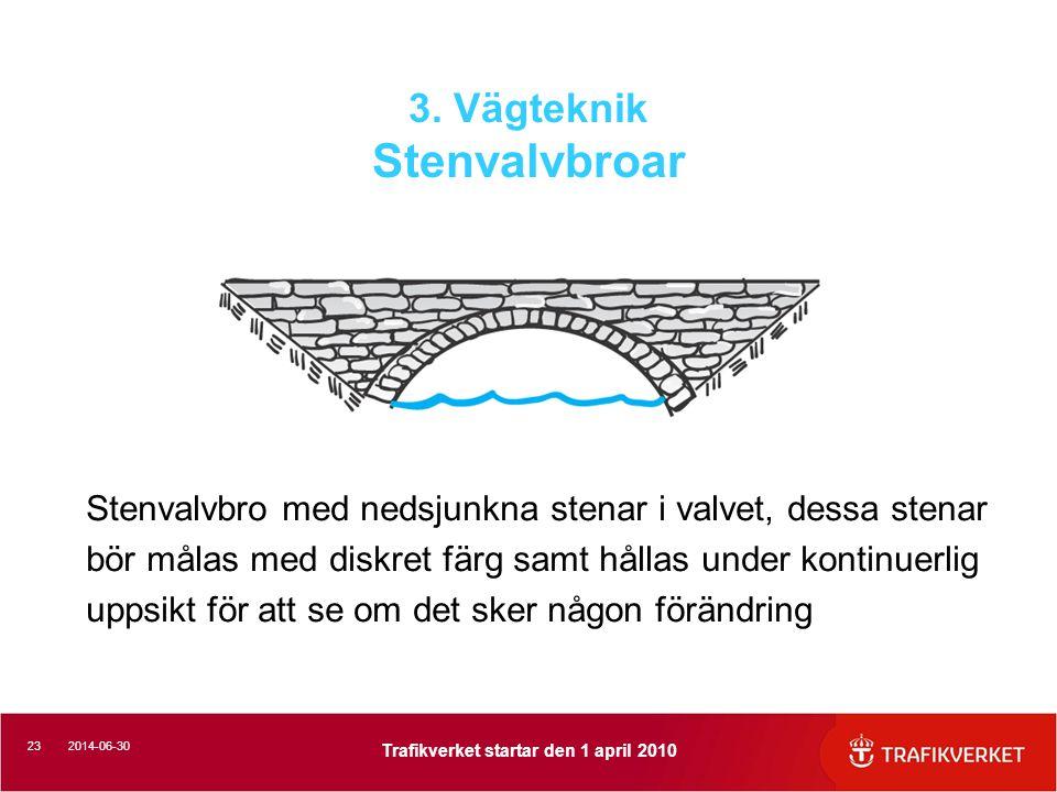 3. Vägteknik Stenvalvbroar
