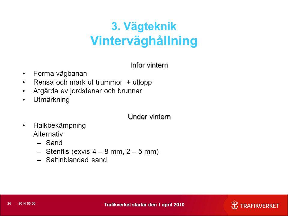 3. Vägteknik Vinterväghållning