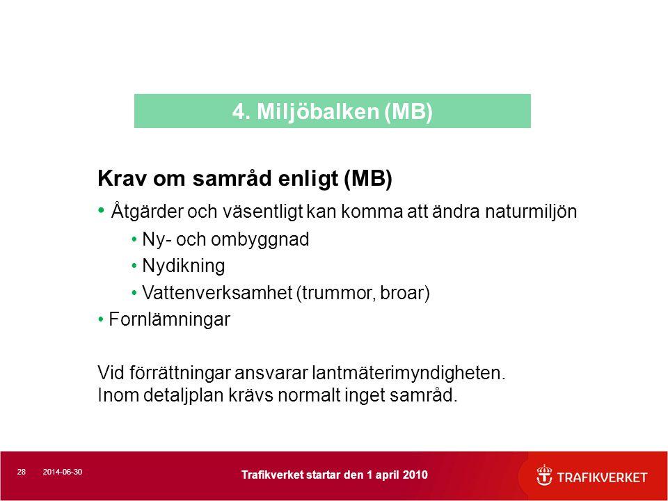 Krav om samråd enligt (MB)