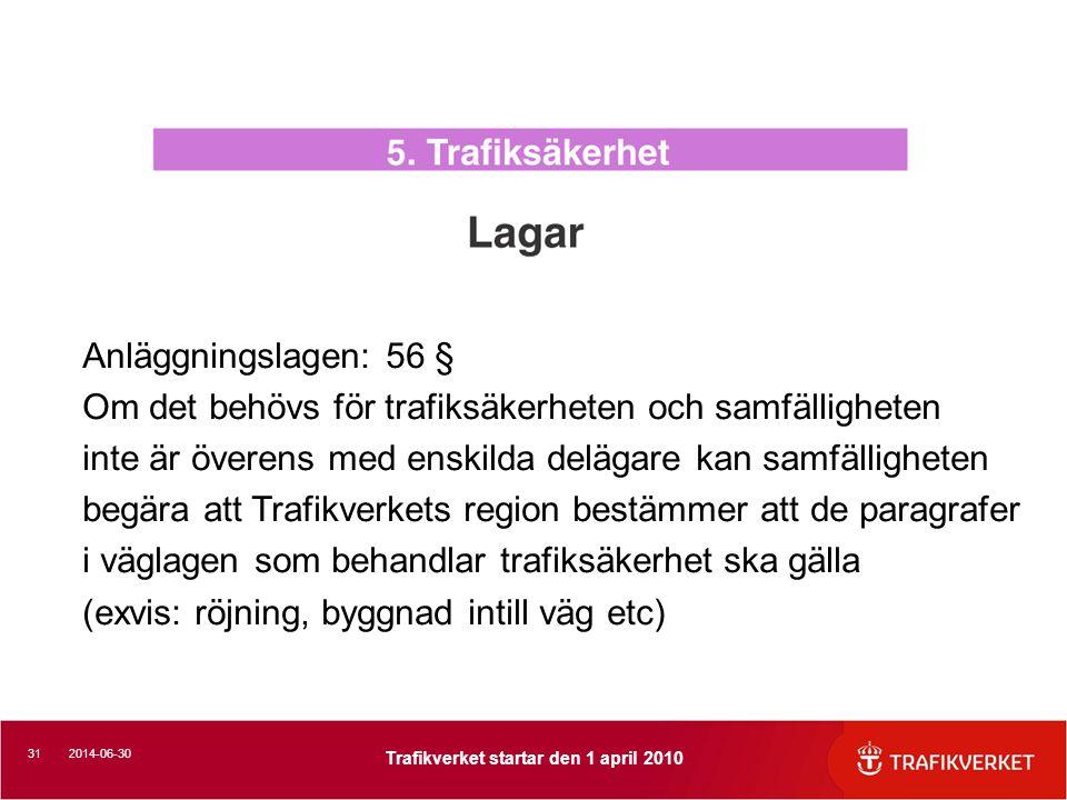 Anläggningslagen: 56 § Om det behövs för trafiksäkerheten och samfälligheten. inte är överens med enskilda delägare kan samfälligheten.