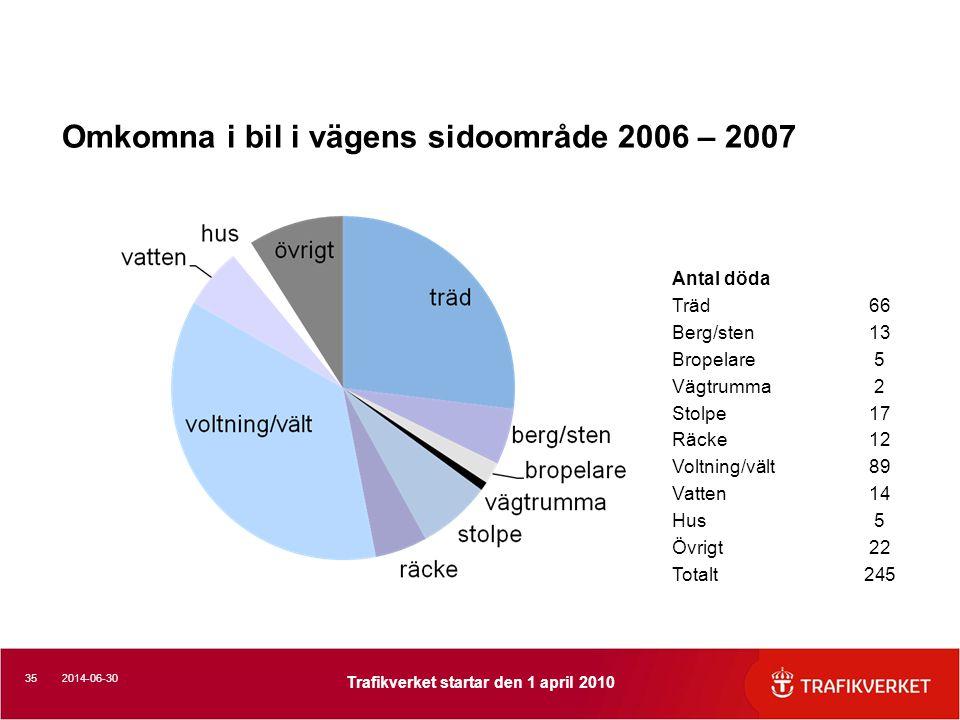 Omkomna i bil i vägens sidoområde 2006 – 2007