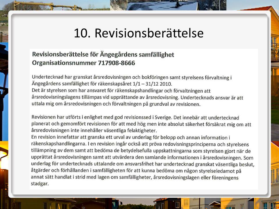 10. Revisionsberättelse