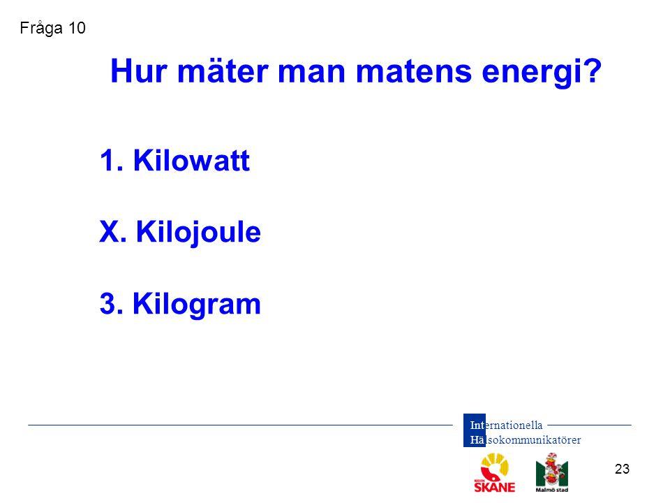 Hur mäter man matens energi