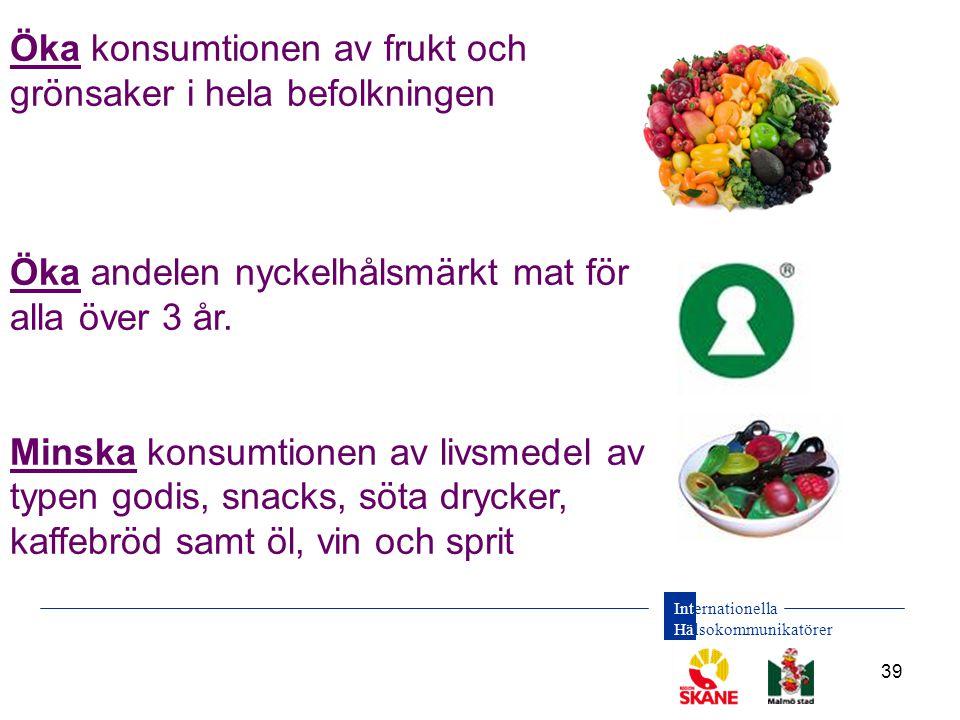 Öka konsumtionen av frukt och grönsaker i hela befolkningen