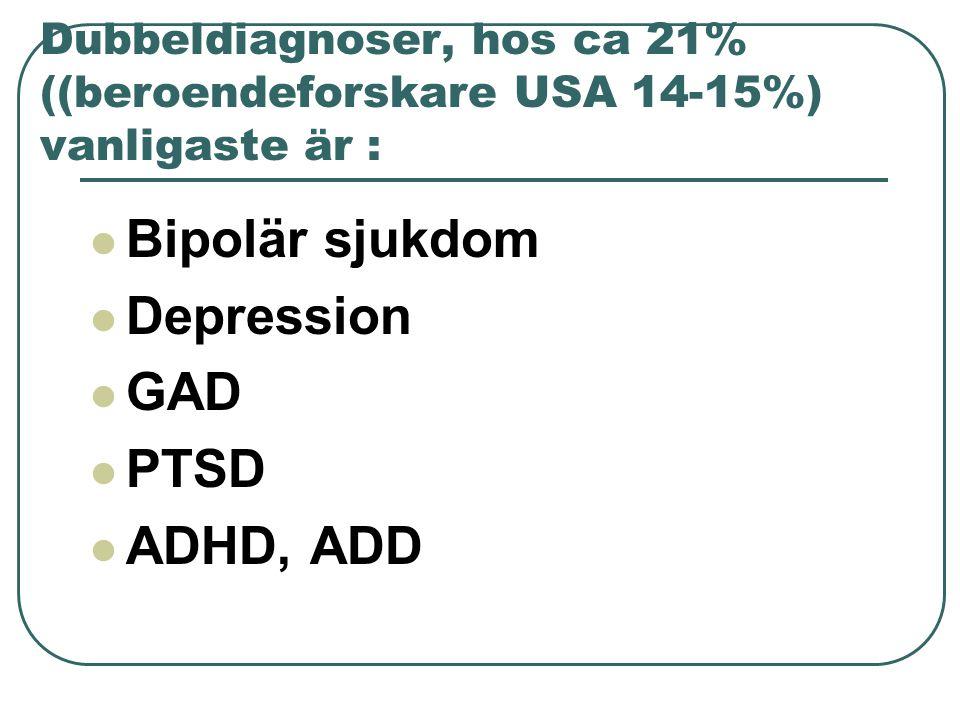 Bipolär sjukdom Depression GAD PTSD ADHD, ADD