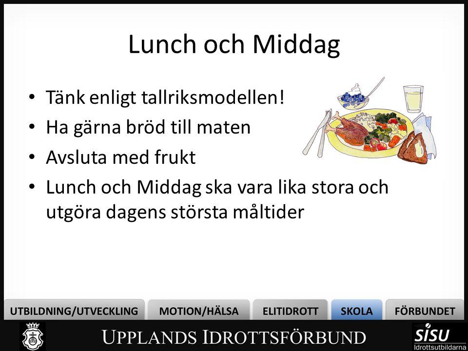 Lunch och Middag Tänk enligt tallriksmodellen!