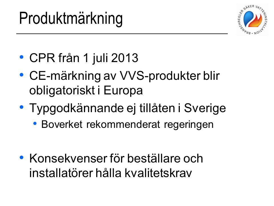 Produktmärkning CPR från 1 juli 2013