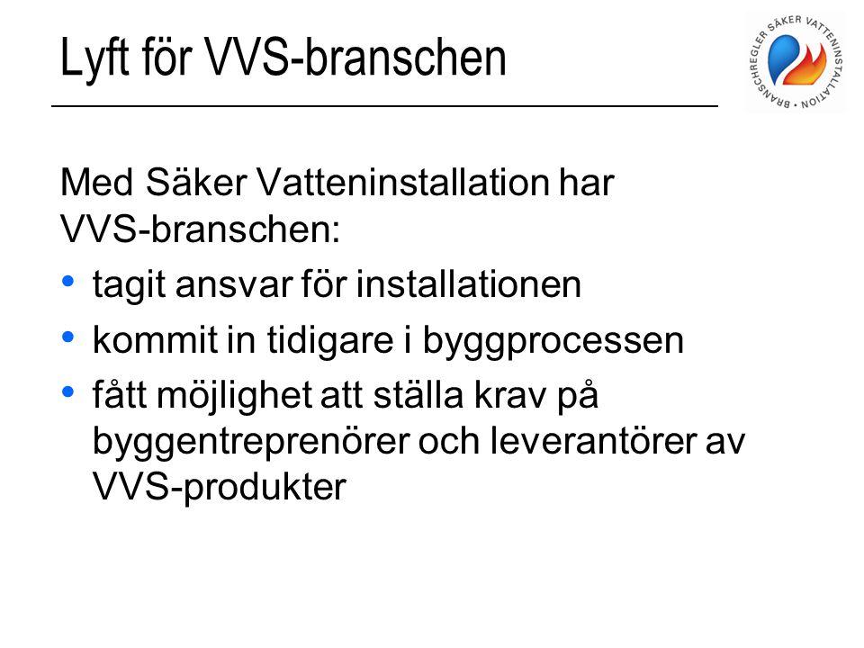 Lyft för VVS-branschen