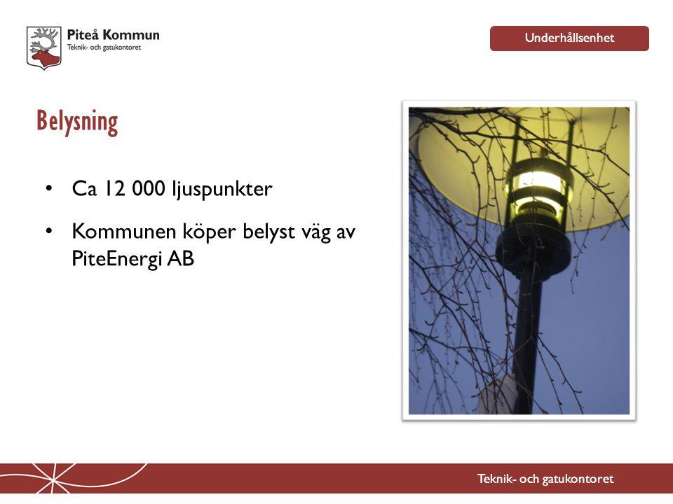 Belysning Ca 12 000 ljuspunkter