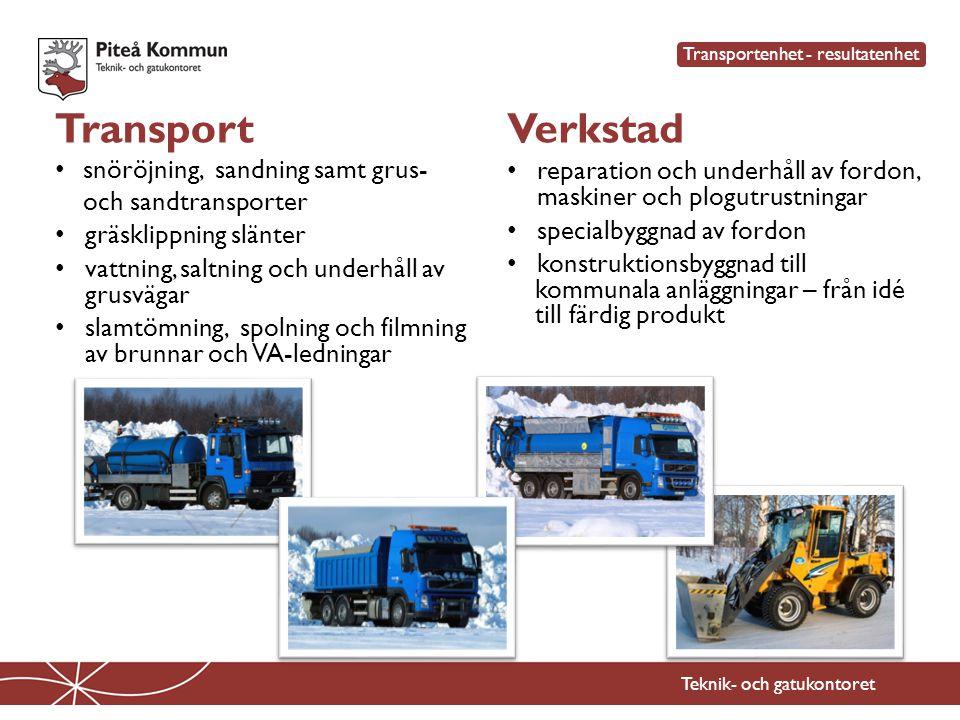 Transport Verkstad snöröjning, sandning samt grus- och sandtransporter