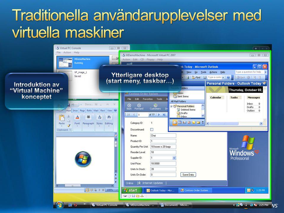 Traditionella användarupplevelser med virtuella maskiner
