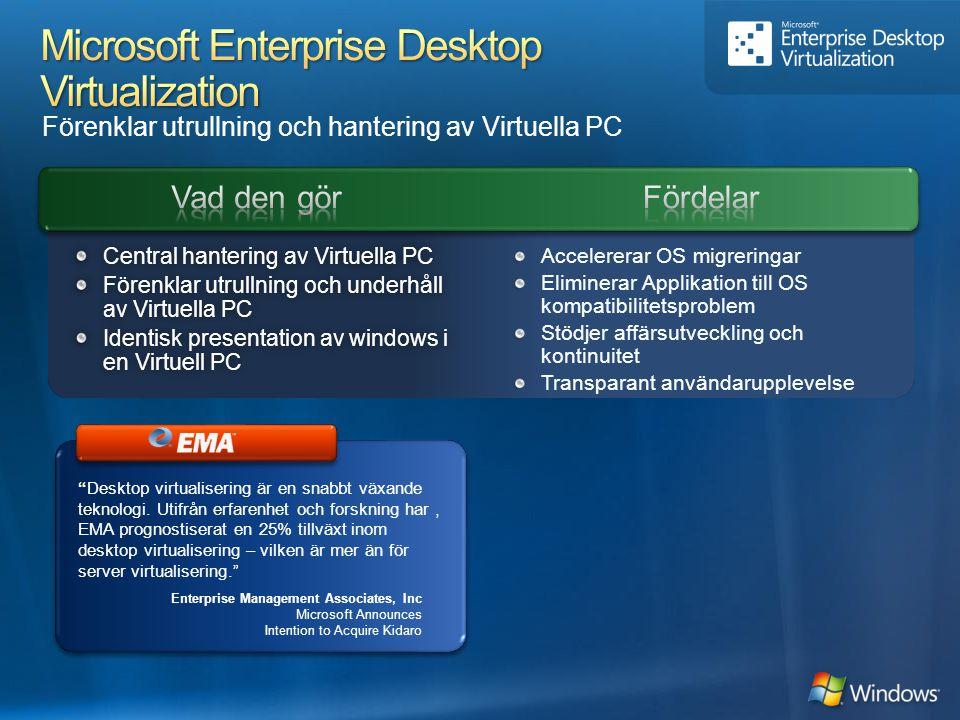 Microsoft Enterprise Desktop Virtualization