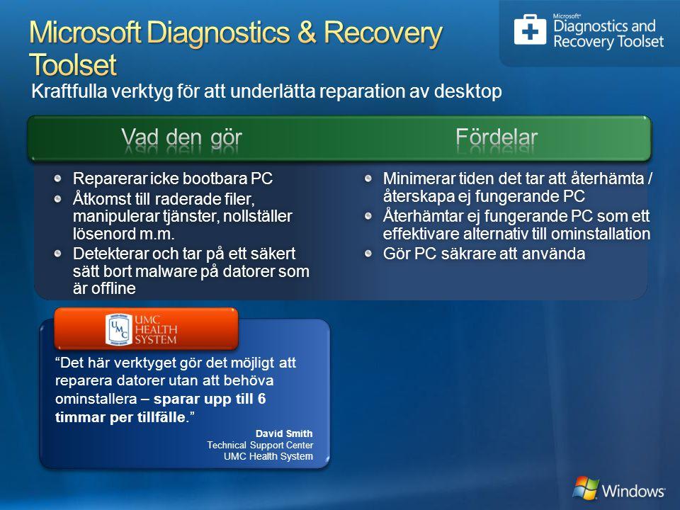 Microsoft Diagnostics & Recovery Toolset