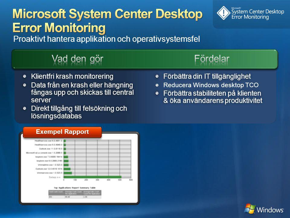 Microsoft System Center Desktop Error Monitoring