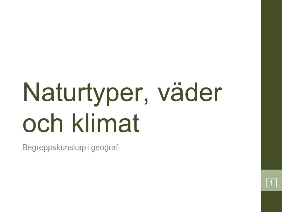 Naturtyper, väder och klimat