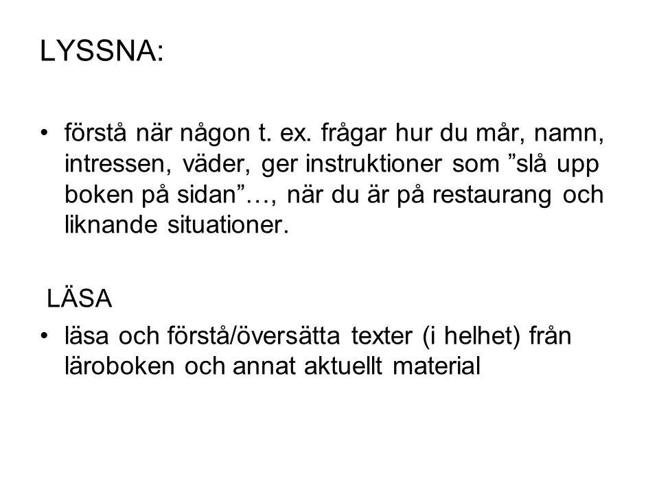 LYSSNA: