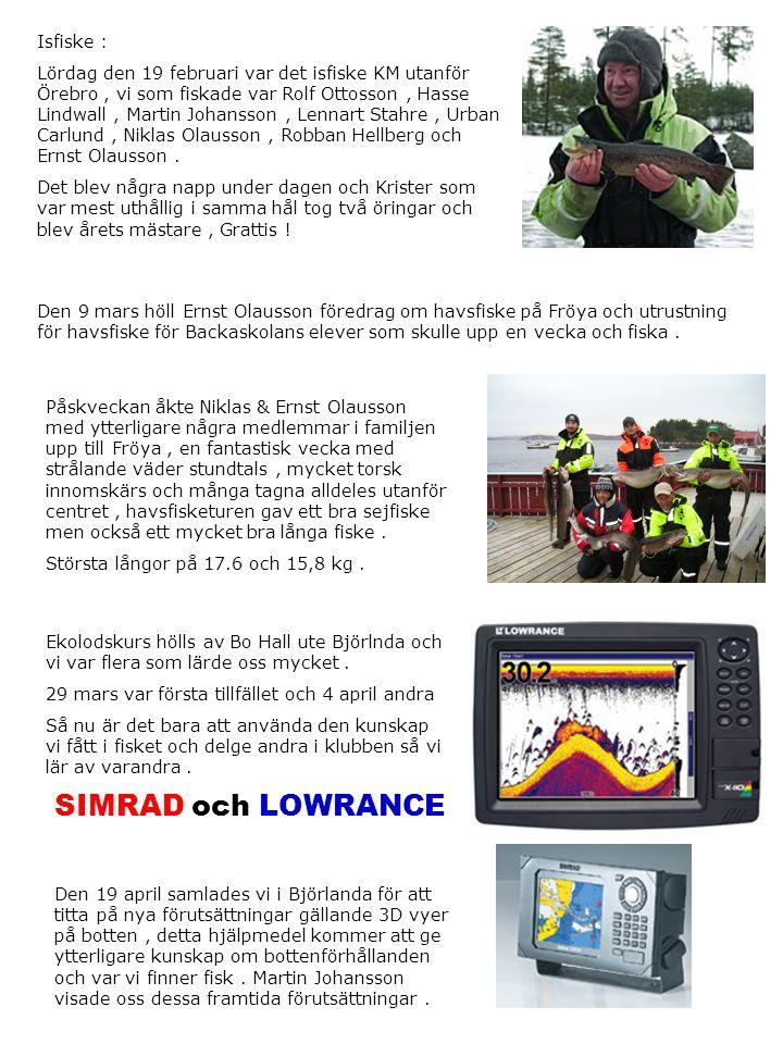 SIMRAD och LOWRANCE Isfiske :
