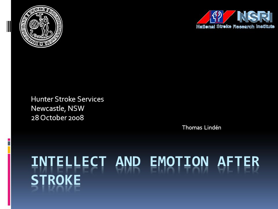 Intellect and emotion after Stroke