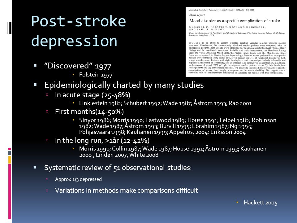 Post-stroke depression