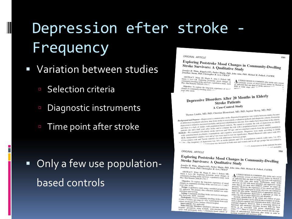 Depression efter stroke - Frequency