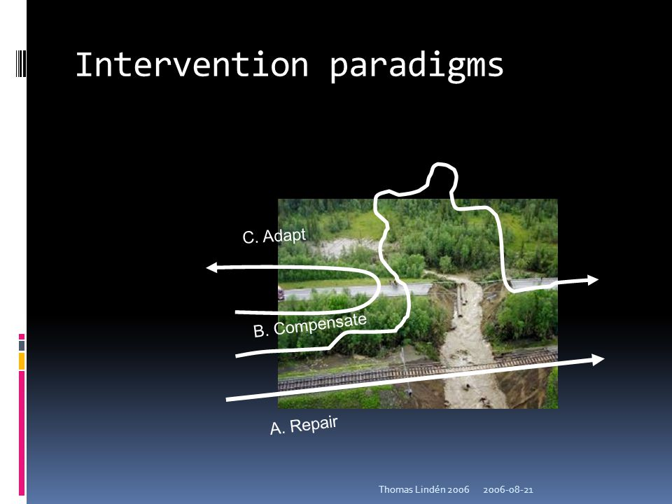 Intervention paradigms