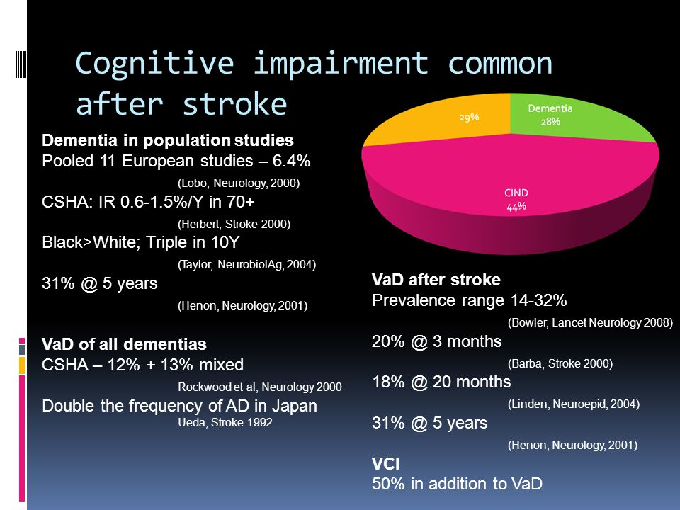 Cognitive impairment common after stroke